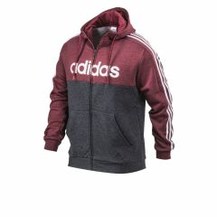 Campera Adidas Hoodie Essentials Colorblock Bordo