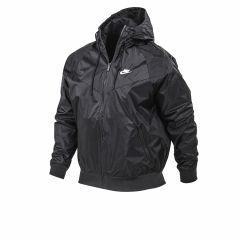 Mal Corrupto Espacioso  Rompeviento Con Capucha Nike Windrunner Negra | Solo Deportes